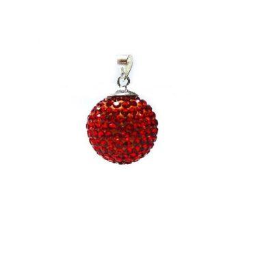 kristallen zwangerschapsbelletje rood