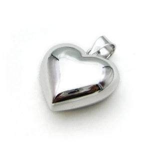 verzilverd zwangerschapsbelletje in hartvorm