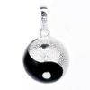 verzilverde zwangerschapsketting yin yang