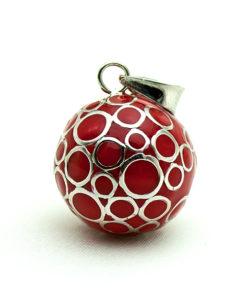 zwangerschapsbelletje rood rondjes