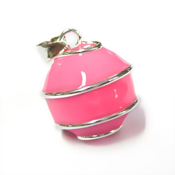 geemailleerde bola roze swirl