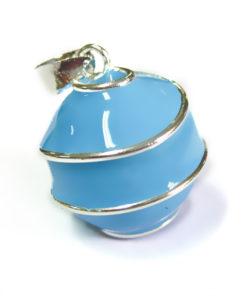 geemailleerde bola blauw swirl