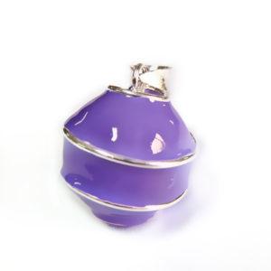 geemailleerde bola paars swirl
