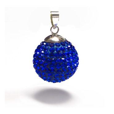 blauw kristallen zwangerschapsbola
