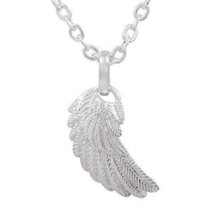 Verzilverd hangertje Engelenvleugel